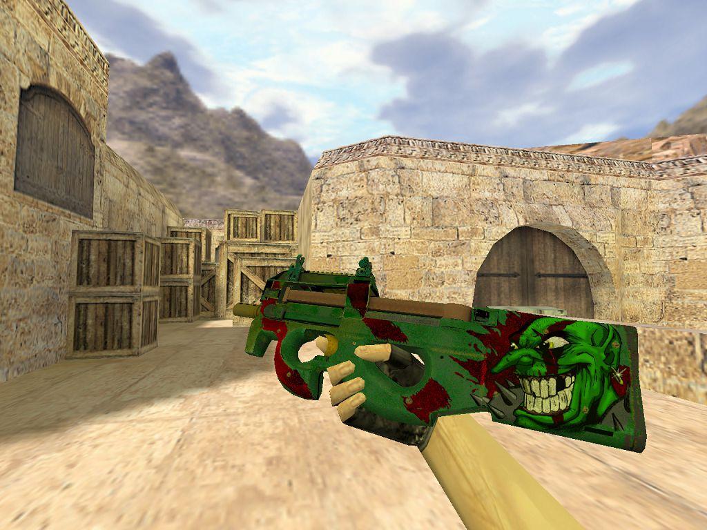 Скачать P90 Зеленый гоблин