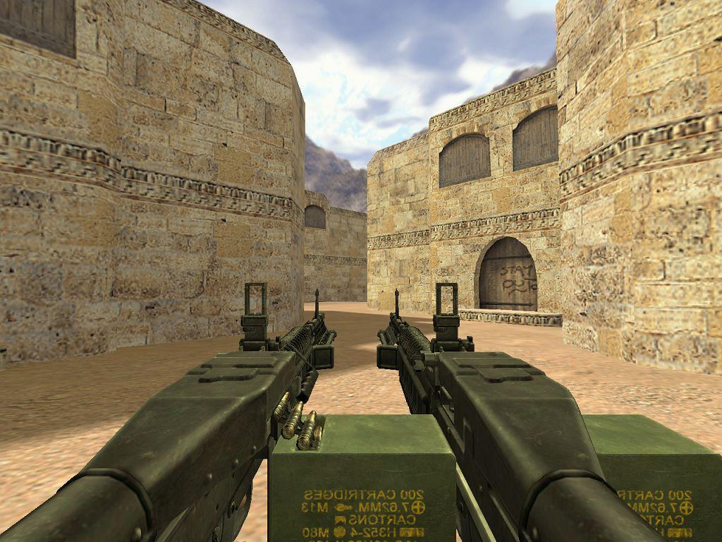 Скачать Два пулемета Рембо для CS 1.6