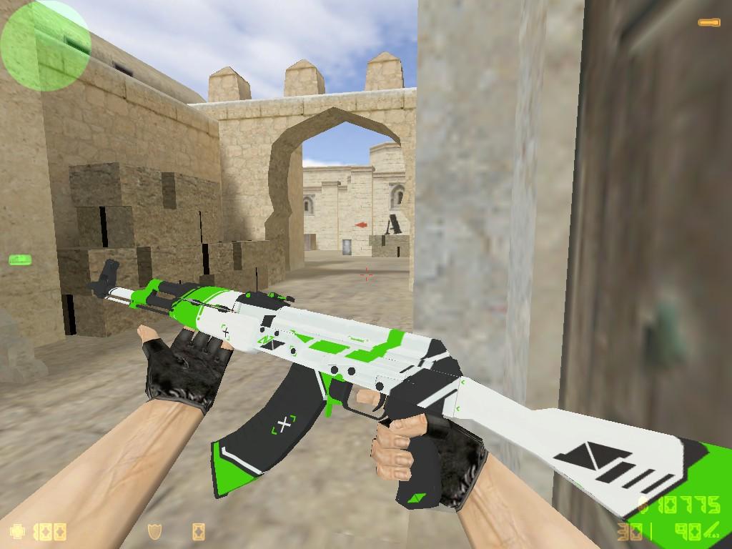 Скачать АК-47 Зеленый Азимов для CS 1.6