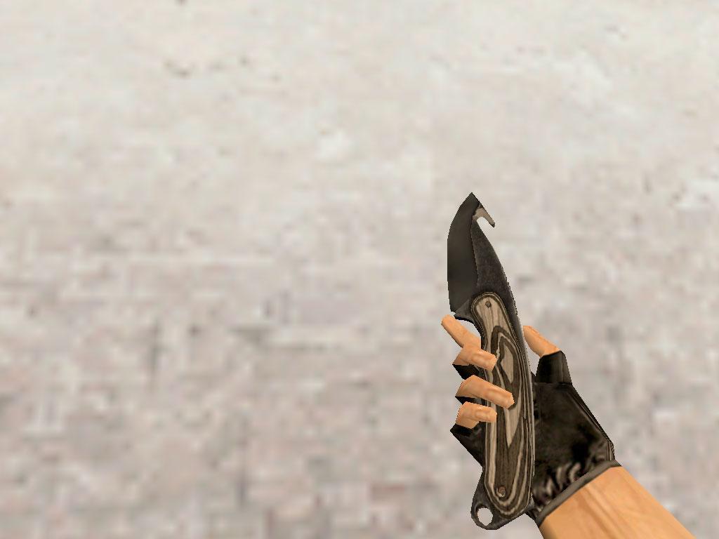 Скачать Нож с лезвием-крюком Черный глянец
