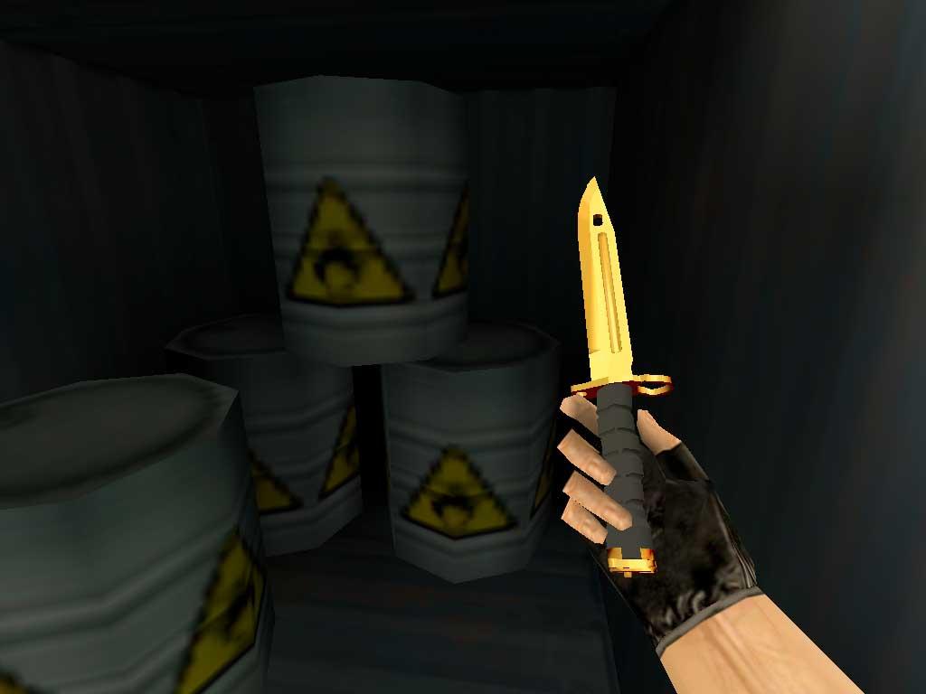 Скачать Штык-нож M9 Золотой хром