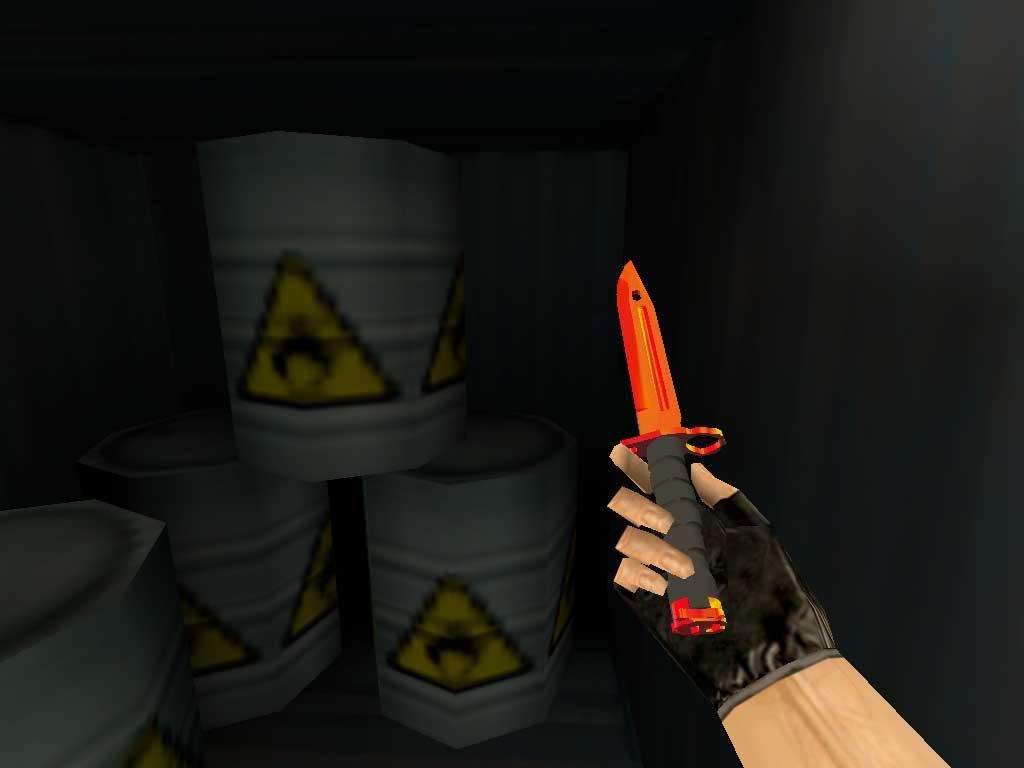 Скачать Штык-нож M9 Красный хром