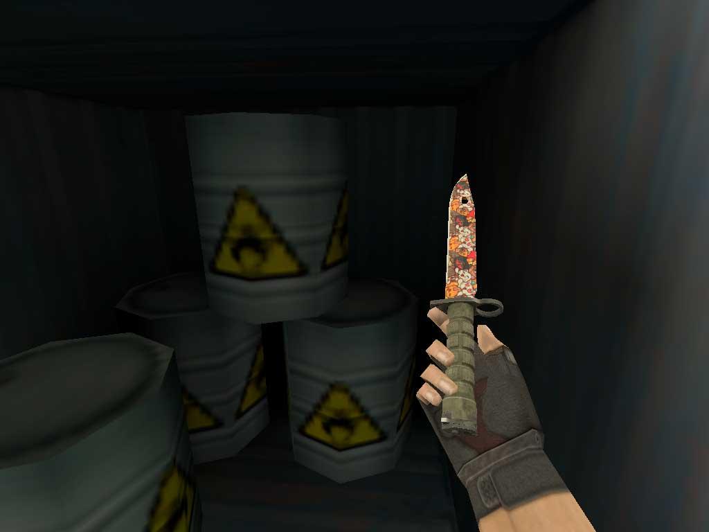 Скачать Штык-нож M9 Лапки