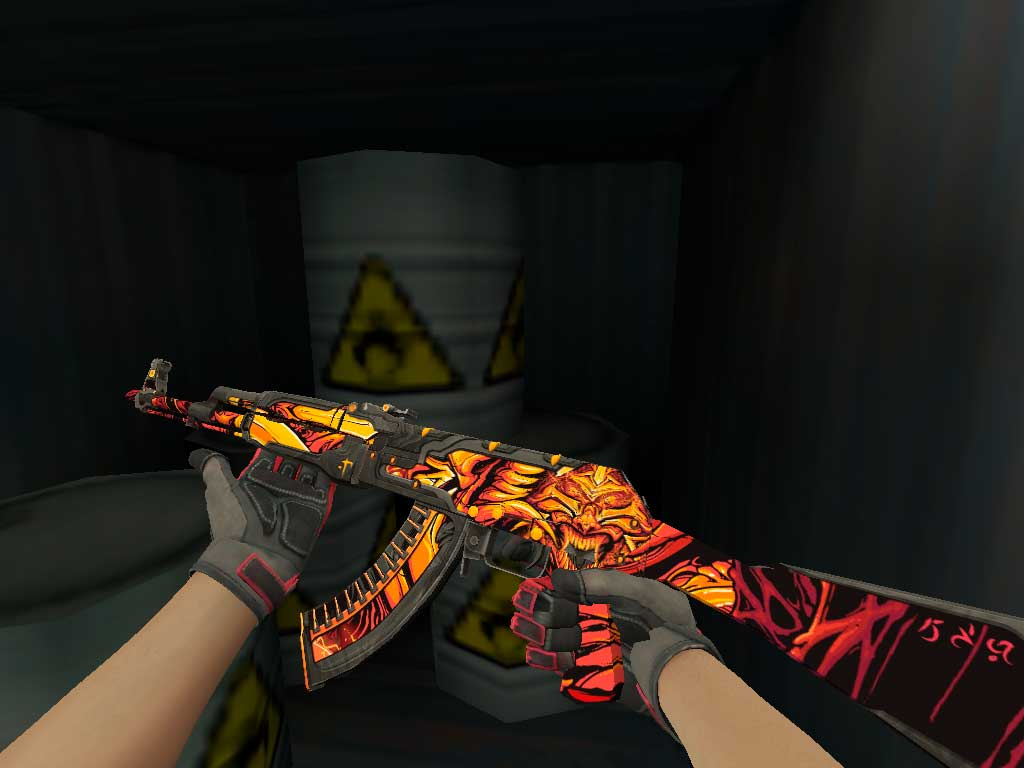 Скачать AK-47 Пламенный демон для CS 1.6