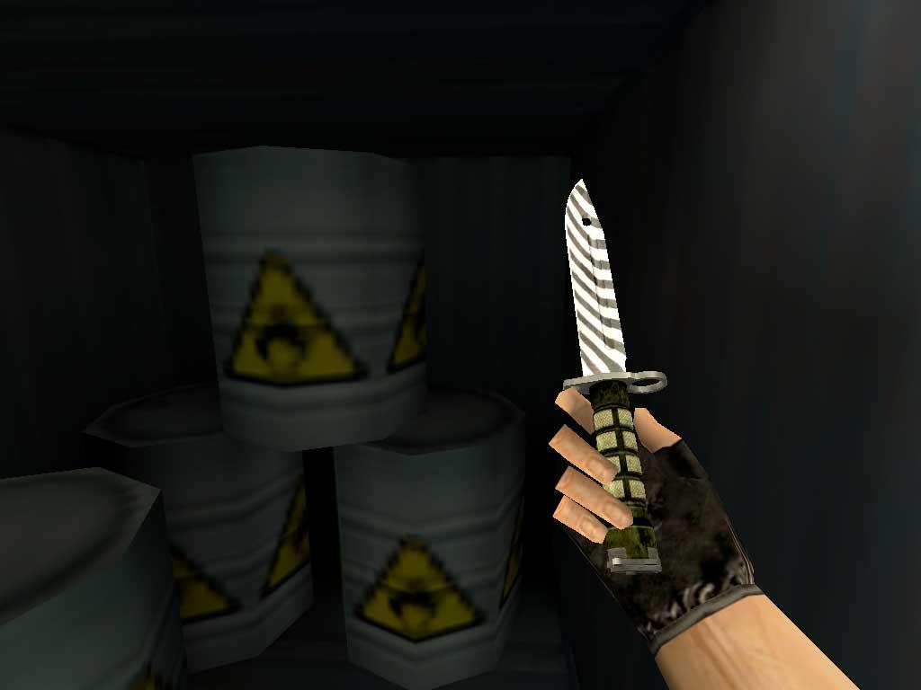 Скачать Штык-нож M9 Зебра