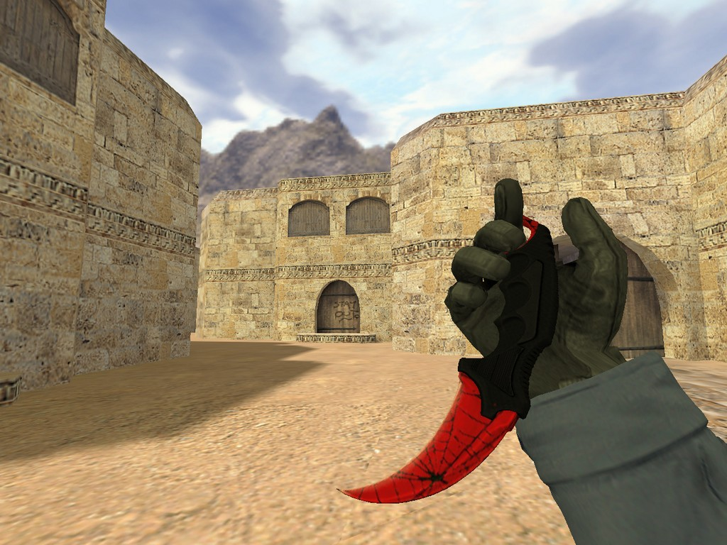 Скачать Нож Керамбит Кровавая паутина для CS 1.6