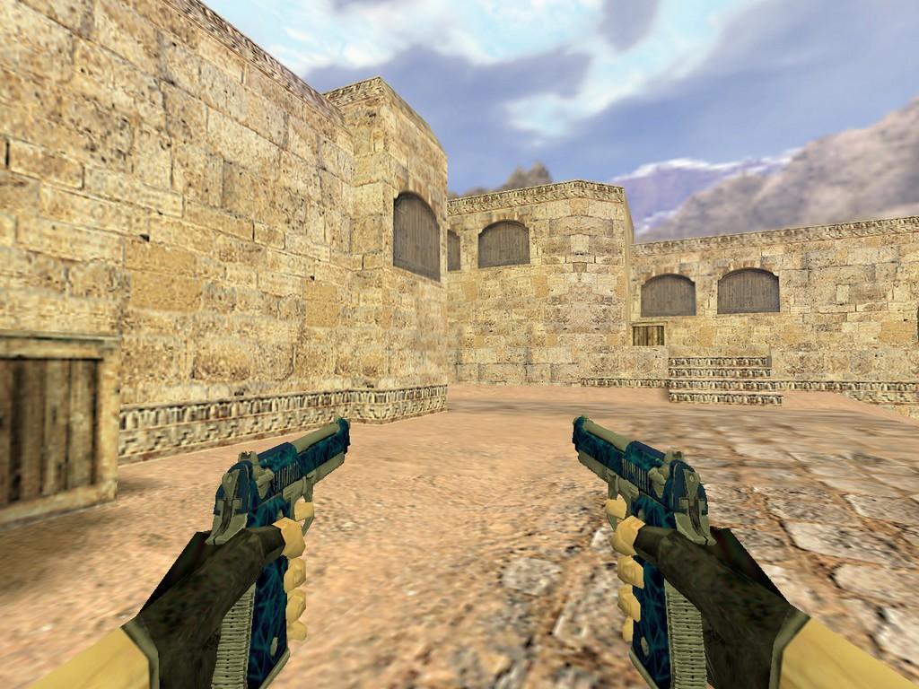 Скачать Dual Elites Синий кварц для CS 1.6