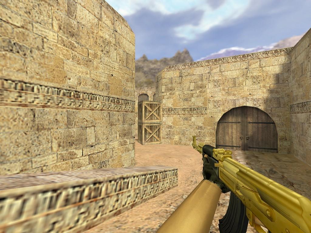 Скачать АК-47 Золотой для CS 1.6