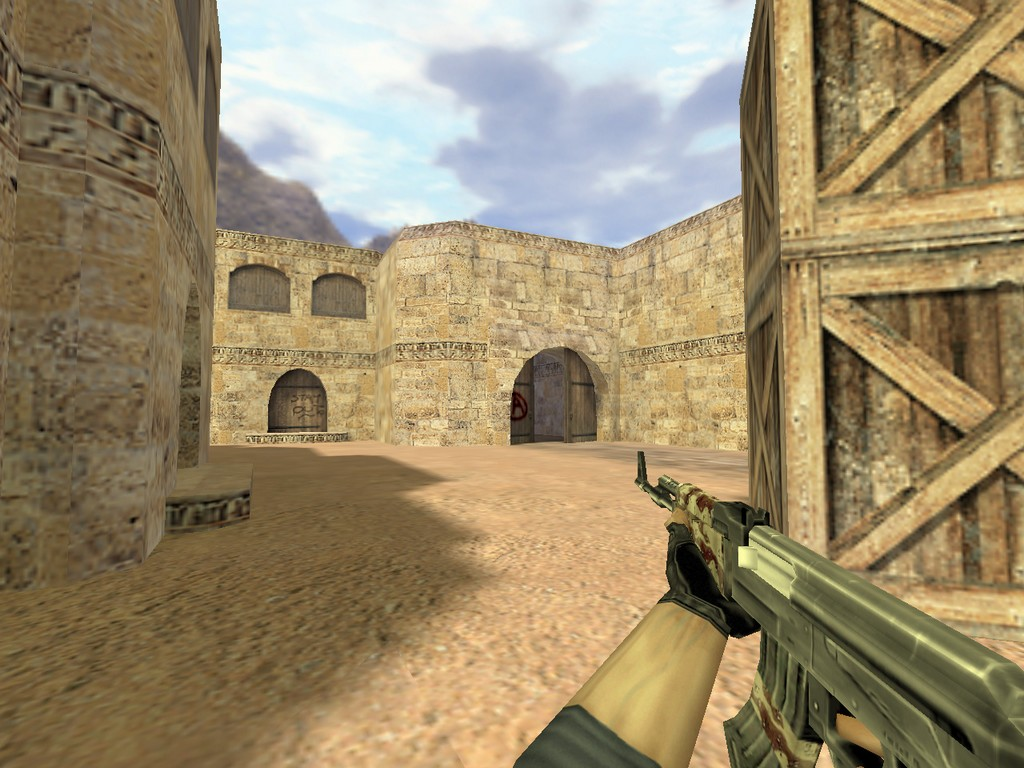 Скачать АК-47 Пустынный камуфляж для CS 1.6