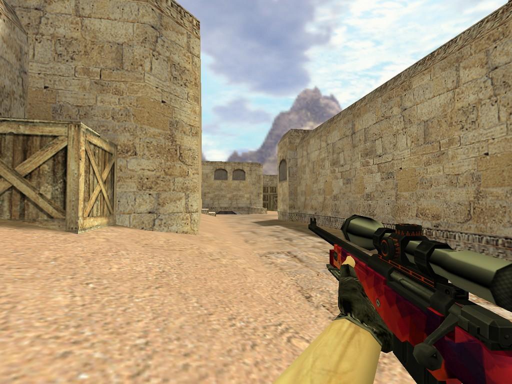 Скачать AWP Красная мозайка для CS 1.6