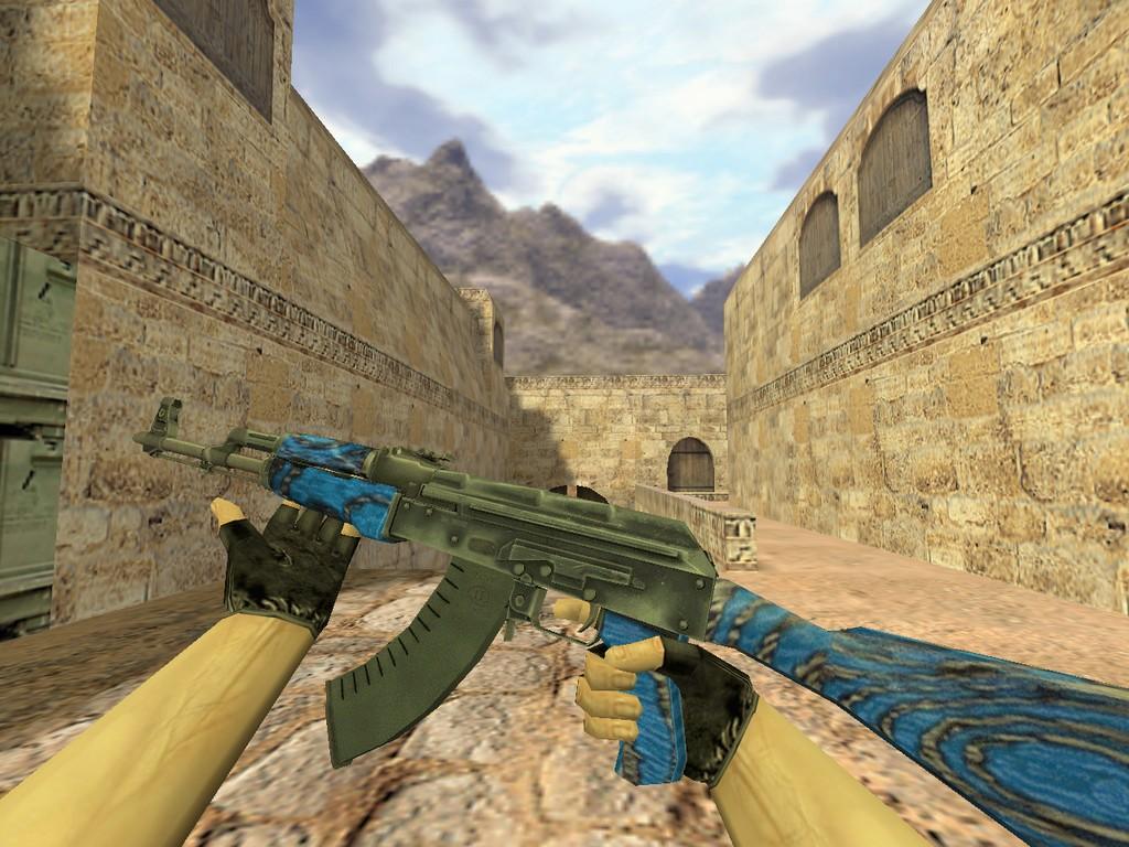 Скачать АК-47 Синий ламинат