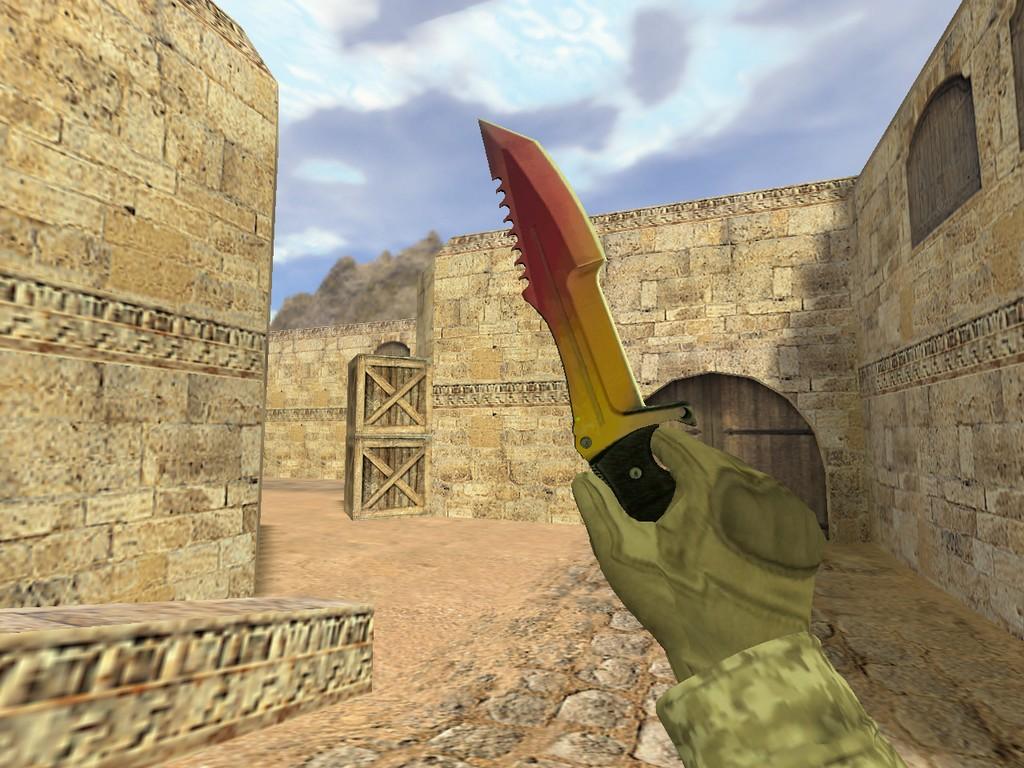 Скачать Охотничий нож Градиент